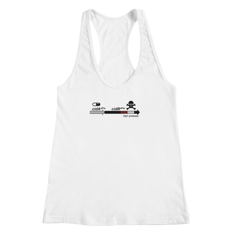 Wolbachia CI Inducing Deubiquitylating Operon Hypothesis T-Shirt of Scienctific Dominance! Women's Racerback Tank by stampedepress's Artist Shop