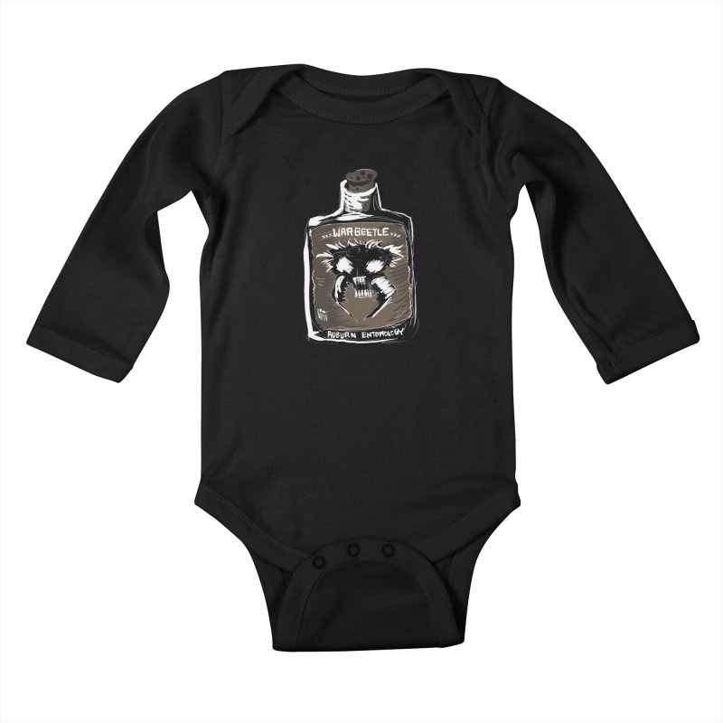 war beetle Kids Baby Longsleeve Bodysuit by stampedepress's Artist Shop