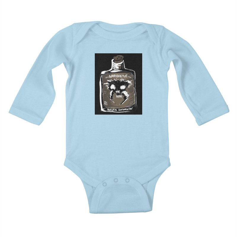 war beetle Kids Baby Longsleeve Bodysuit by stampedepress's Artist Shop