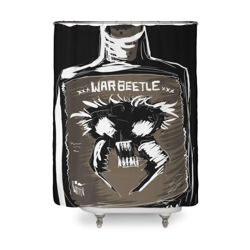 war beetle Home Shower Curtain by stampedepress's Artist Shop