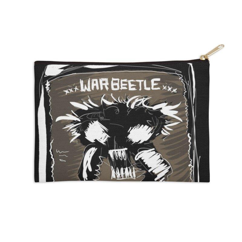 war beetle Accessories Zip Pouch by stampedepress's Artist Shop