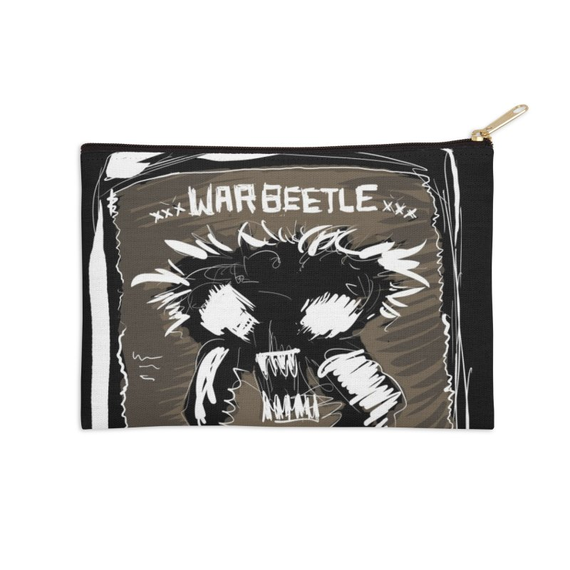 war beetle Accessories Zip Pouch by stampedepress's Artist Shop