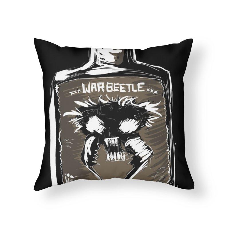 war beetle Home Throw Pillow by stampedepress's Artist Shop