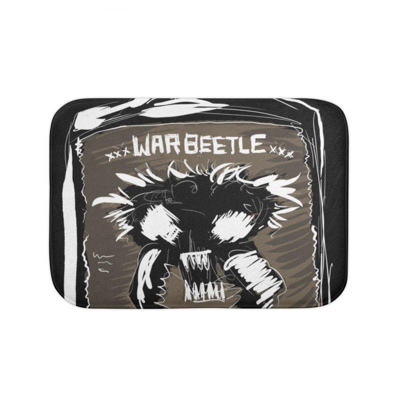war beetle Home Bath Mat by stampedepress's Artist Shop