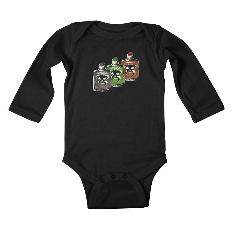 war beetle pick your poison Kids Baby Longsleeve Bodysuit by stampedepress's Artist Shop