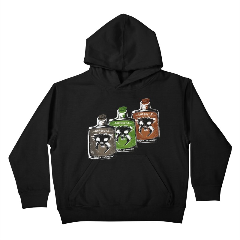war beetle pick your poison Kids Pullover Hoody by stampedepress's Artist Shop