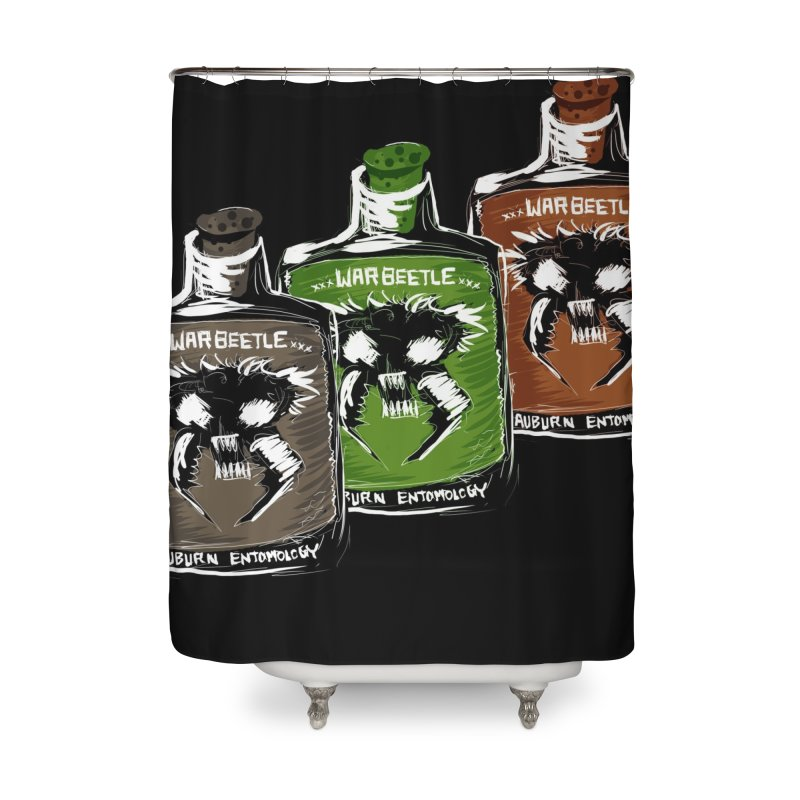 war beetle pick your poison Home Shower Curtain by stampedepress's Artist Shop