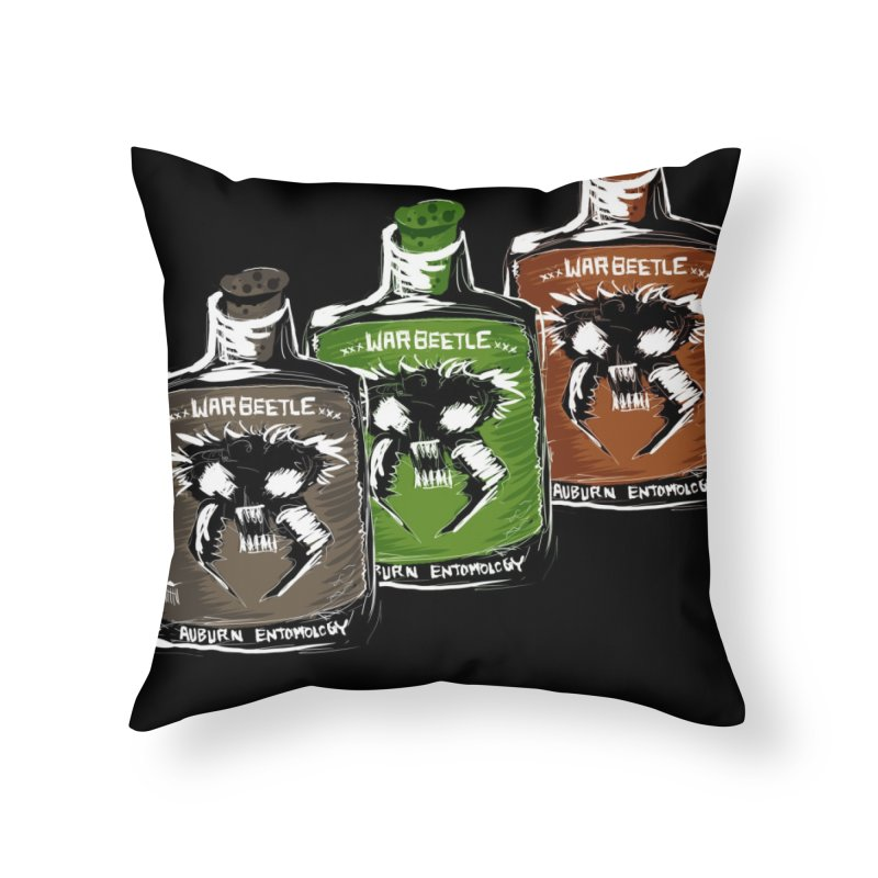war beetle pick your poison Home Throw Pillow by stampedepress's Artist Shop