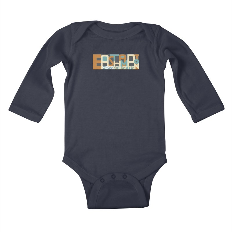 Easthampton, Massachusetts Kids Baby Longsleeve Bodysuit by Tom Pappalardo / Standard Design