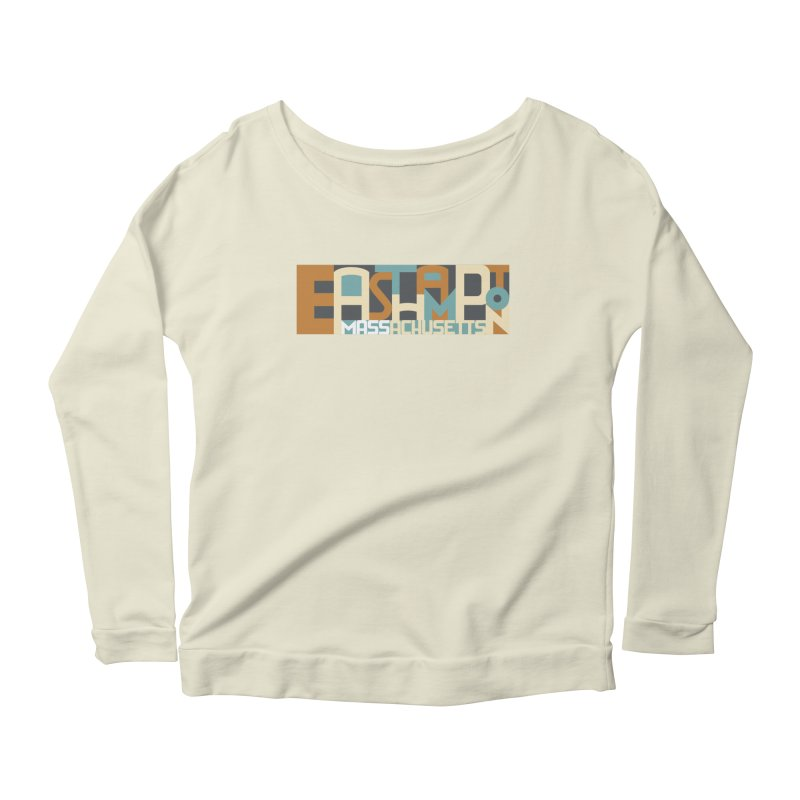 Easthampton, Massachusetts Women's Longsleeve Scoopneck  by Tom Pappalardo / Standard Design