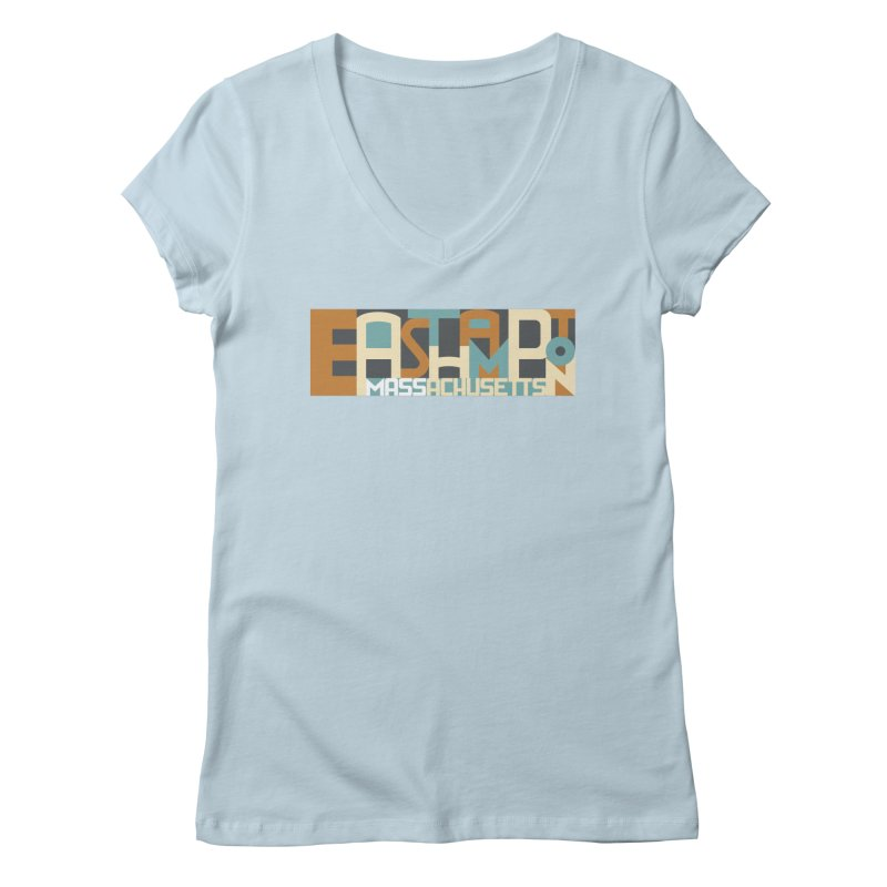 Easthampton, Massachusetts Women's Regular V-Neck by Tom Pappalardo / Standard Design