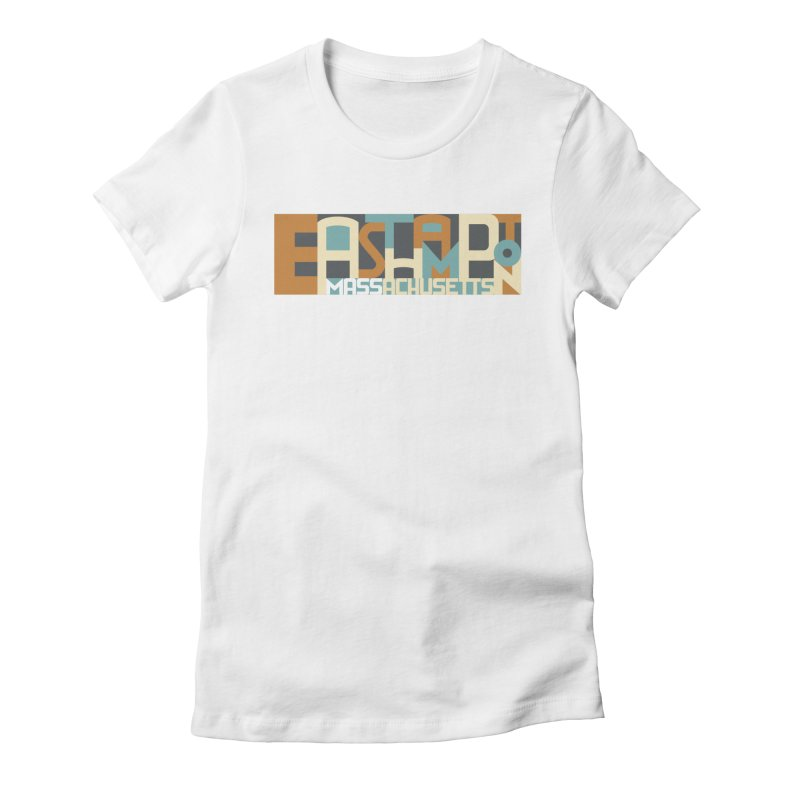 Easthampton, Massachusetts Women's Fitted T-Shirt by Tom Pappalardo / Standard Design