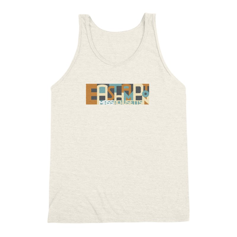 Easthampton, Massachusetts Men's Triblend Tank by Tom Pappalardo / Standard Design