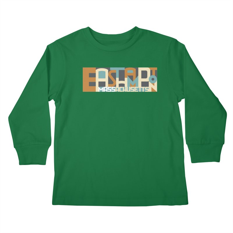 Easthampton, Massachusetts Kids Longsleeve T-Shirt by Tom Pappalardo / Standard Design