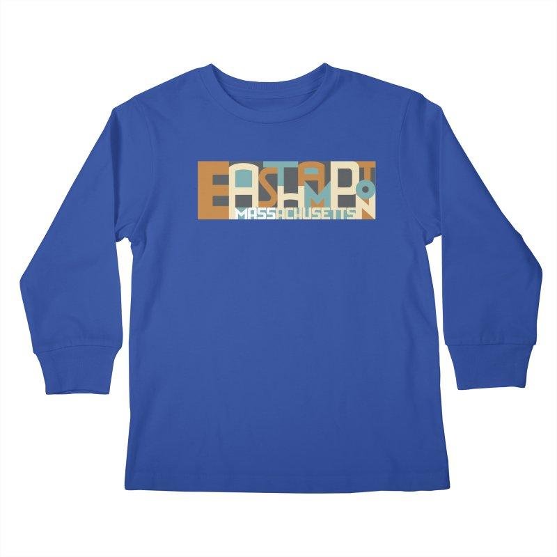 Easthampton, Massachusetts Kids Longsleeve T-Shirt by Tom Pappalardo / Standard Design