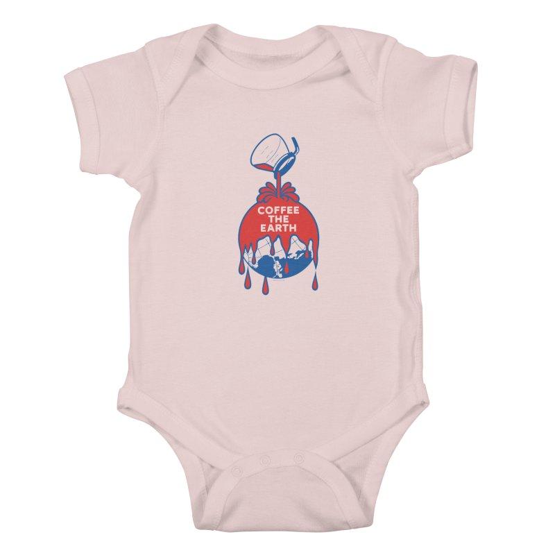 Coffee The Earth (Sherwin-Williams logo parody) Kids Baby Bodysuit by Tom Pappalardo / Standard Design