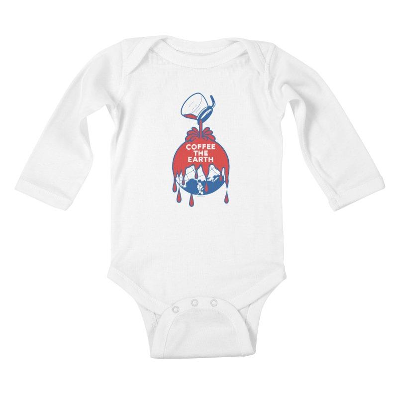 Coffee The Earth (Sherwin-Williams logo parody) Kids Baby Longsleeve Bodysuit by Tom Pappalardo / Standard Design