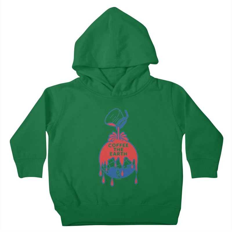 Coffee The Earth (Sherwin-Williams logo parody) Kids Toddler Pullover Hoody by Tom Pappalardo / Standard Design