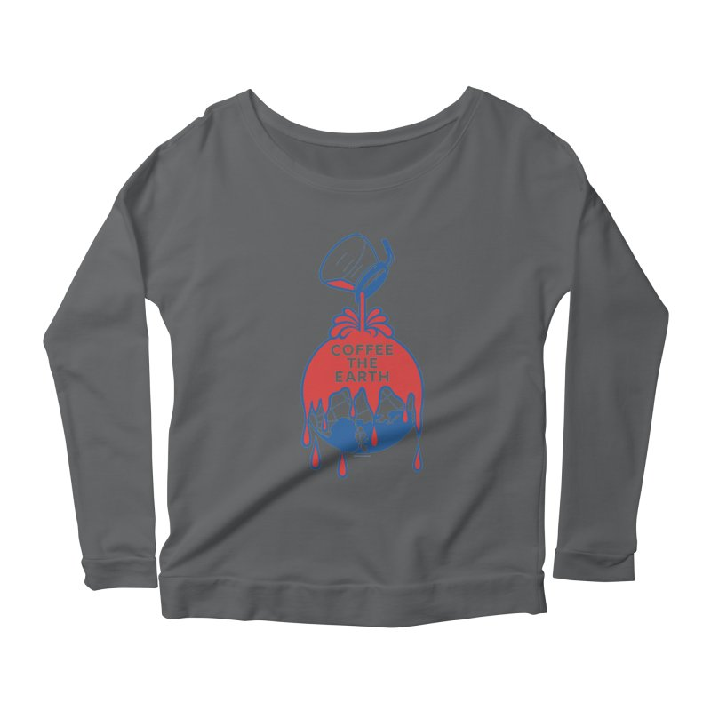Coffee The Earth (Sherwin-Williams logo parody) Women's Longsleeve Scoopneck  by Tom Pappalardo / Standard Design