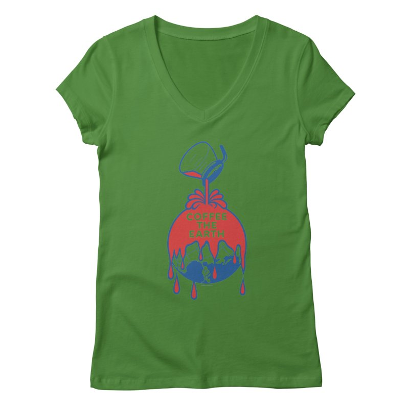 Coffee The Earth (Sherwin-Williams logo parody) Women's V-Neck by Tom Pappalardo / Standard Design