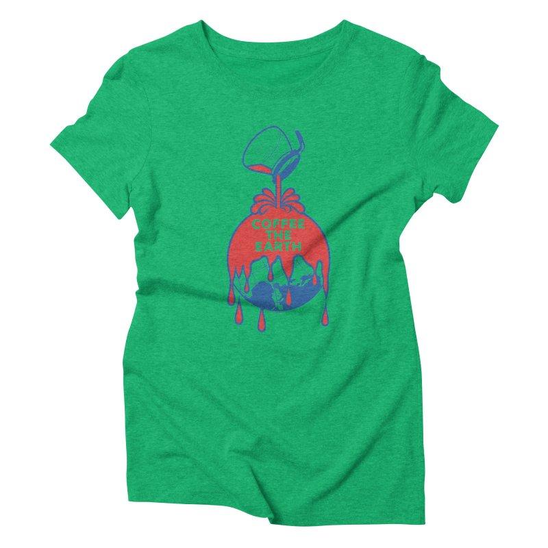 Coffee The Earth (Sherwin-Williams logo parody) Women's Triblend T-shirt by Tom Pappalardo / Standard Design