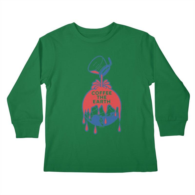 Coffee The Earth (Sherwin-Williams logo parody) Kids Longsleeve T-Shirt by Tom Pappalardo / Standard Design