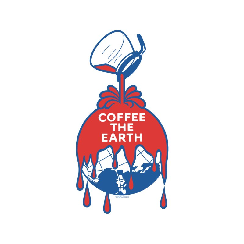 Coffee The Earth (Sherwin-Williams logo parody) Men's V-Neck by Object/Tom Pappalardo