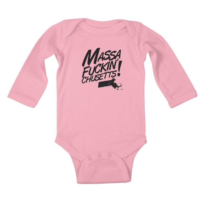 Massa-Fuckin'-Chusetts! Kids Baby Longsleeve Bodysuit by Tom Pappalardo / Standard Design