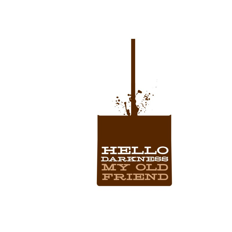 Hello Darkness My Old Friend Women's Fitted T-Shirt by Tom Pappalardo / Standard Design