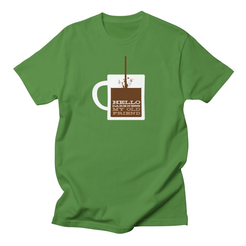 Hello Darkness My Old Friend in Men's T-Shirt Clover by Tom Pappalardo / Standard Design