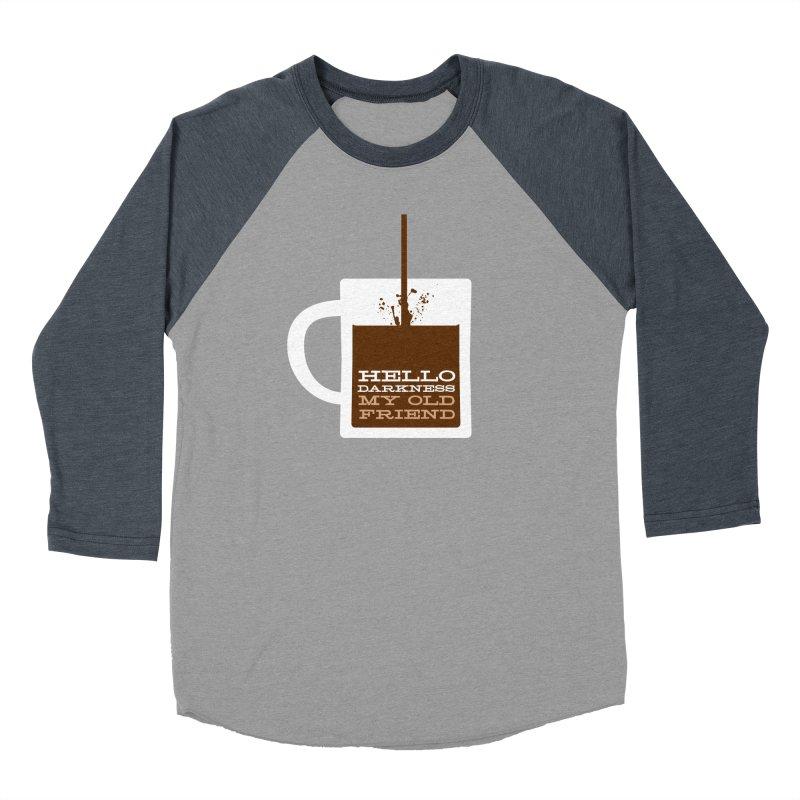 Hello Darkness My Old Friend Men's Baseball Triblend T-Shirt by Tom Pappalardo / Standard Design