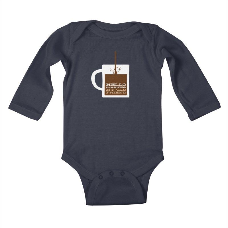 Hello Darkness My Old Friend Kids Baby Longsleeve Bodysuit by Tom Pappalardo / Standard Design