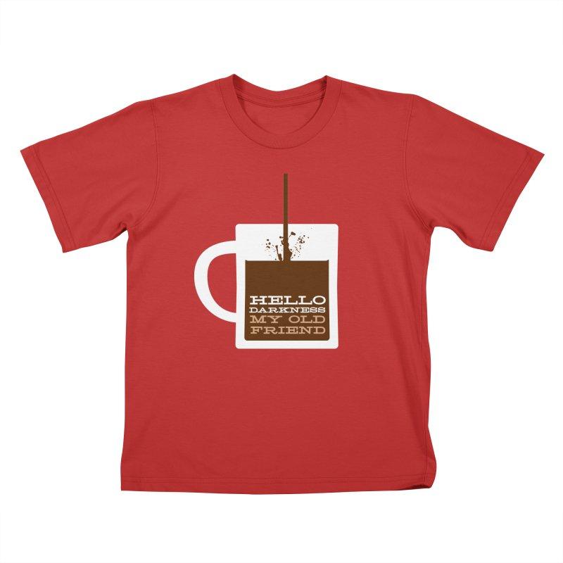 Hello Darkness My Old Friend Kids T-Shirt by Tom Pappalardo / Standard Design