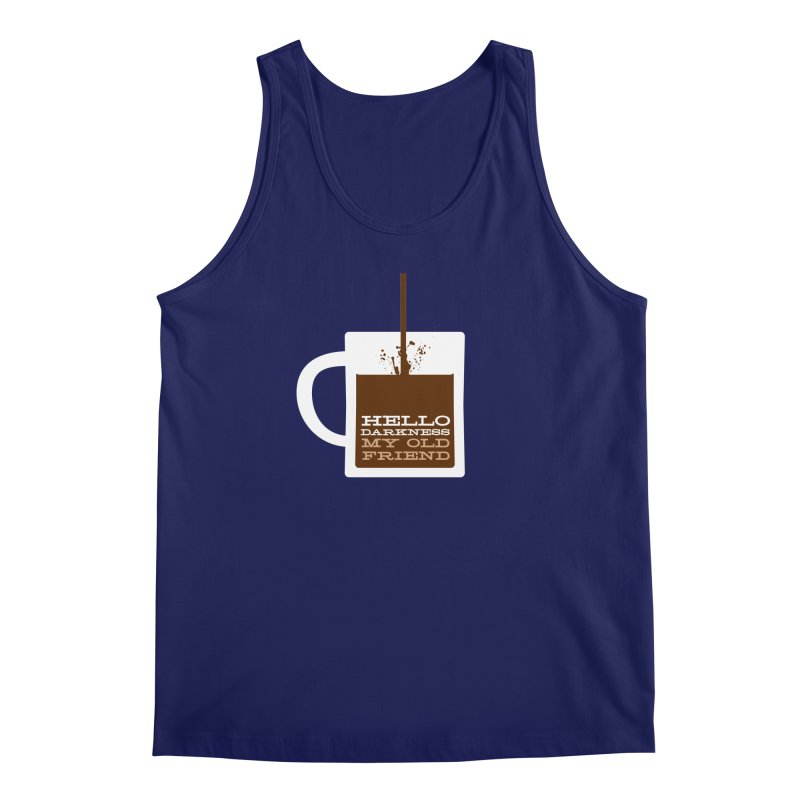 Hello Darkness My Old Friend Men's Regular Tank by Tom Pappalardo / Standard Design