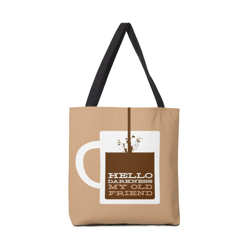 Hello Darkness My Old Friend Mugs, Buttons, & More Bag by Object/Tom Pappalardo