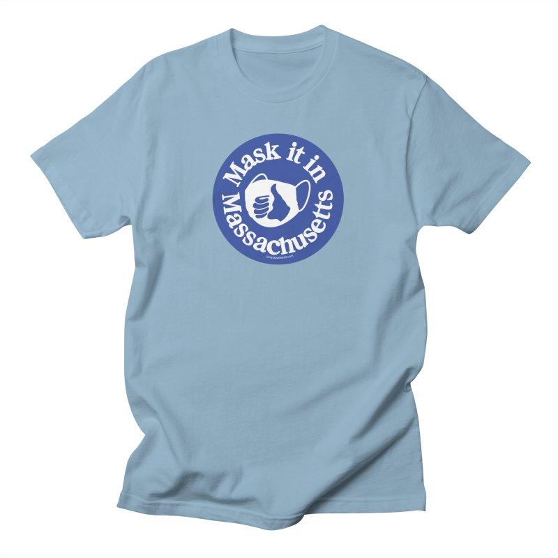 Mask It In Massachusetts Men's T-Shirt by Object/Tom Pappalardo