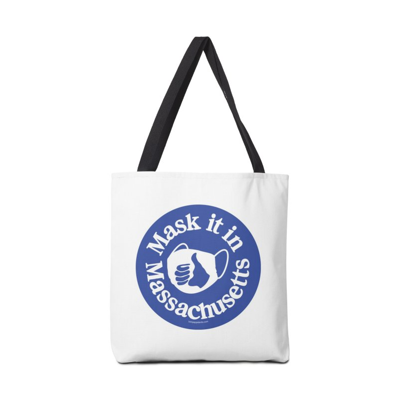 Mask It In Massachusetts Mugs, Buttons, & More Bag by Object/Tom Pappalardo