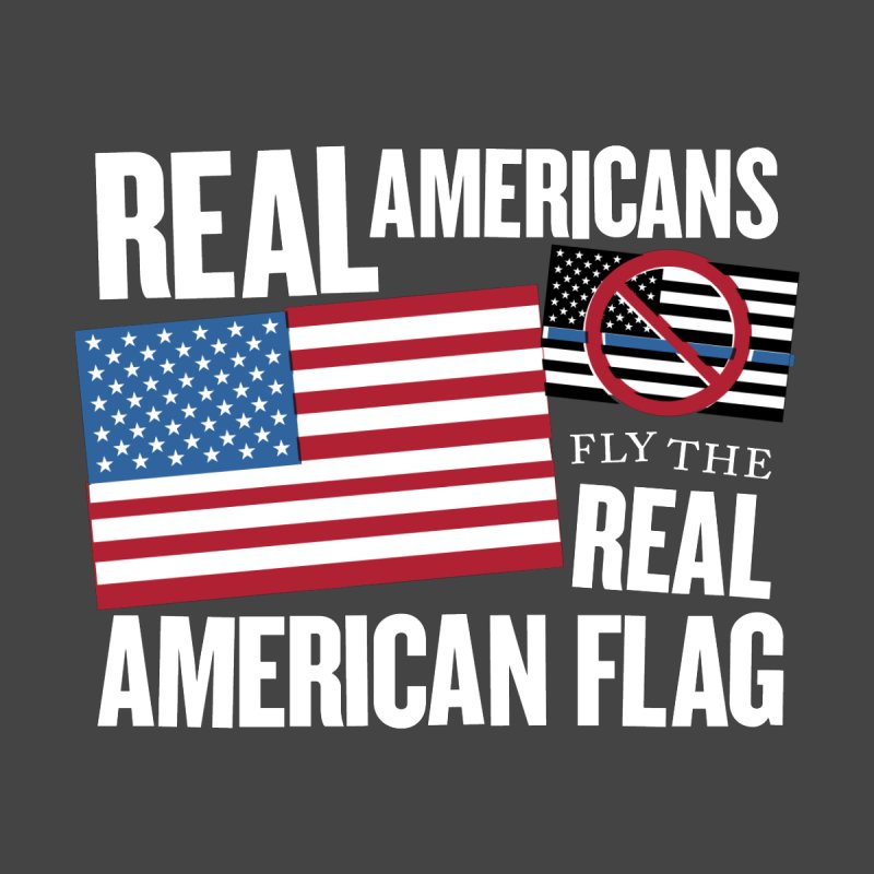 Real Americans Fly The Real American Flag Men's V-Neck by Object