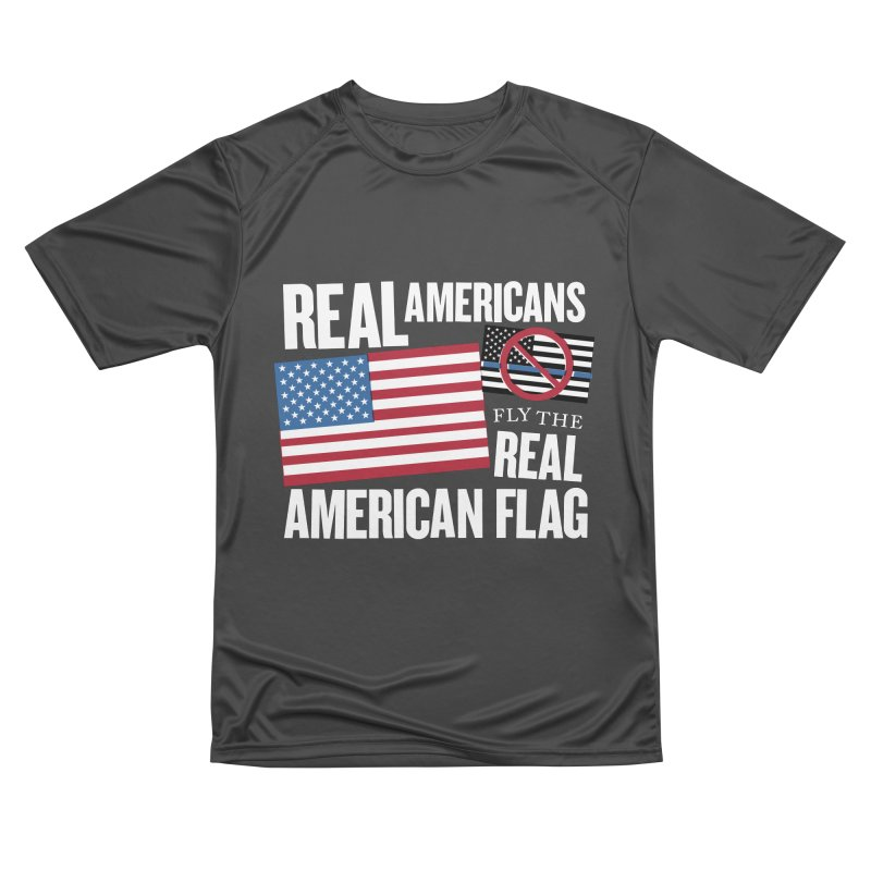 Real Americans Fly The Real American Flag Women's T-Shirt by Object/Tom Pappalardo