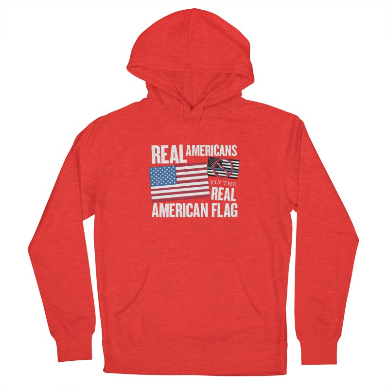 Real Americans Fly The Real American Flag Women's Pullover Hoody by Object/Tom Pappalardo