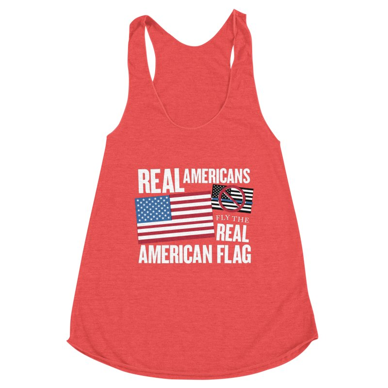 Real Americans Fly The Real American Flag Women's Tank by Object