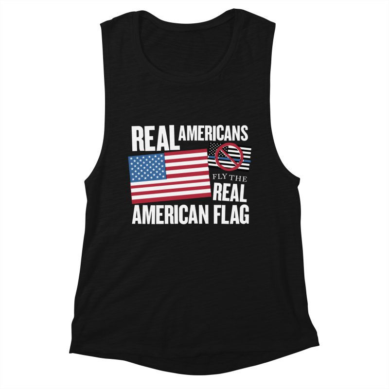Real Americans Fly The Real American Flag Women's Tank by Object/Tom Pappalardo