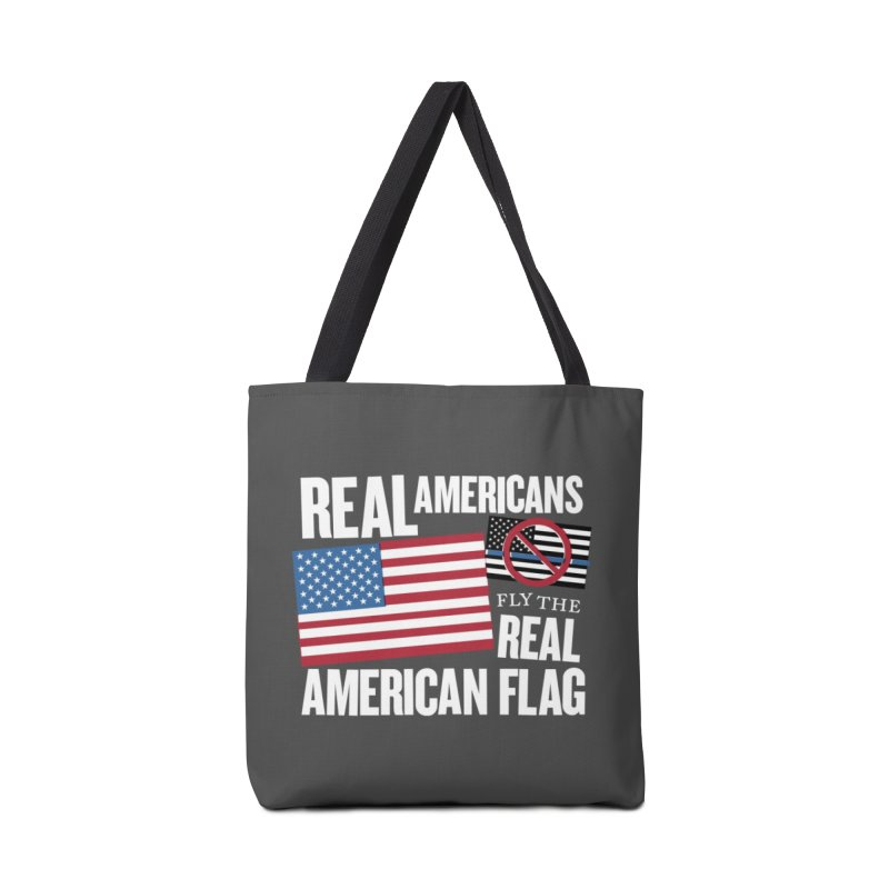 Real Americans Fly The Real American Flag Mugs, Buttons, & More Bag by Object/Tom Pappalardo
