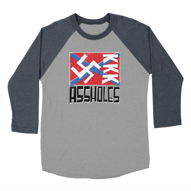 Assholes (black text) Women's Longsleeve T-Shirt by Object/Tom Pappalardo