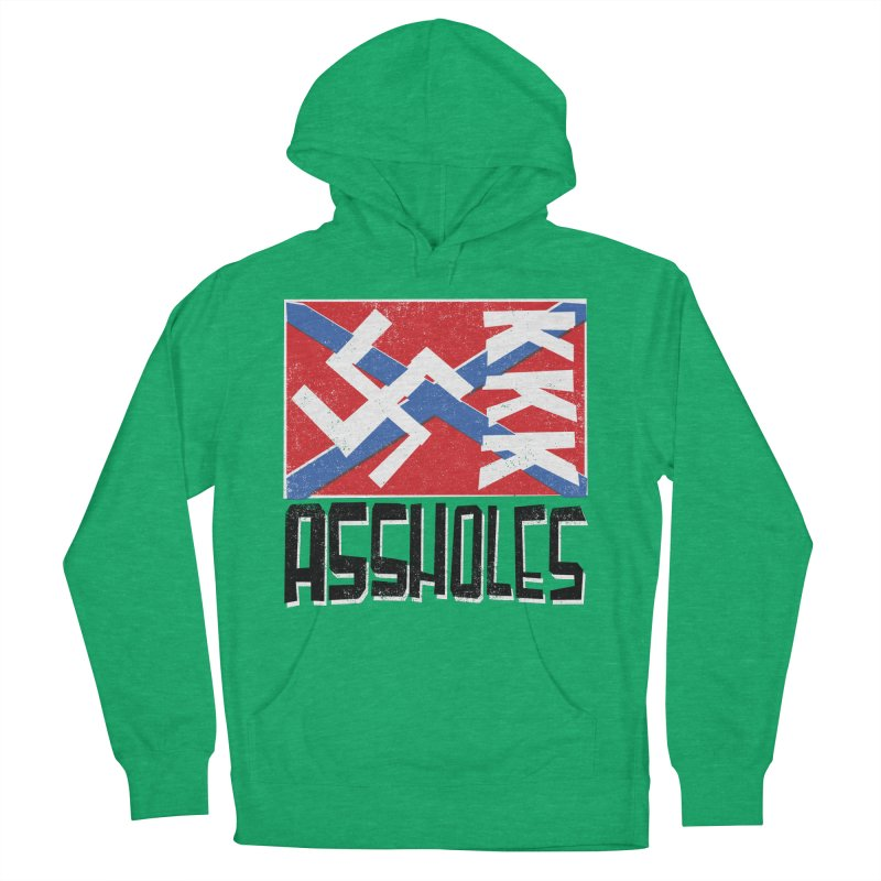 Assholes Women's French Terry Pullover Hoody by Tom Pappalardo / Standard Design