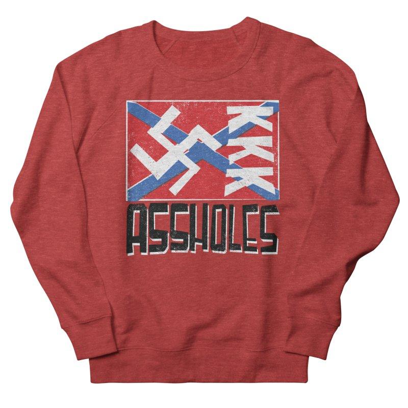 Assholes Women's French Terry Sweatshirt by Tom Pappalardo / Standard Design