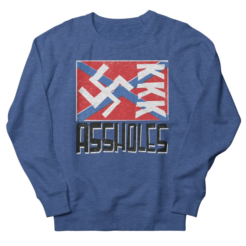 Assholes Men's French Terry Sweatshirt by Tom Pappalardo / Standard Design