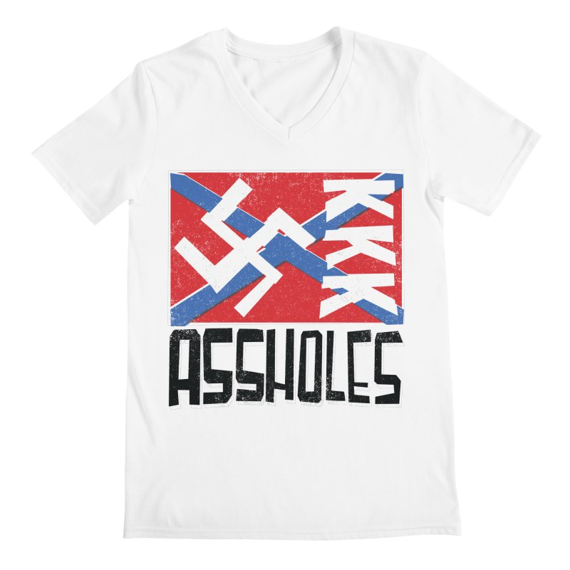 Assholes Men's V-Neck by Tom Pappalardo / Standard Design