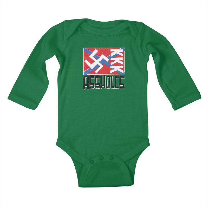 Assholes Kids Baby Longsleeve Bodysuit by Tom Pappalardo / Standard Design