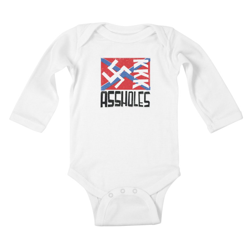 Assholes Kids Baby Longsleeve Bodysuit by Tom Pappalardo / Standard Design